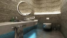 chic salle de bains contemporaine glam