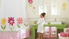 salle de bain fille fleur couleurs