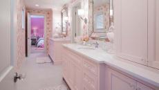 salle de bain design rose féminin