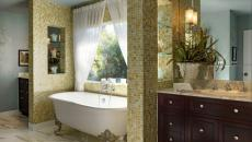 salle de bains classique baignoire ancienne design retro
