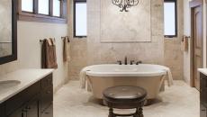 salle de bains design retro ancien d'antan baignoire