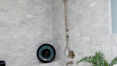 salle de bain design moderne marbre blanc