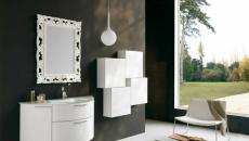 salle de bains contemporaine design miroir glamour