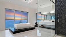 grand luxe salle de bains marbre