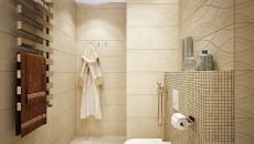 petite salle de bain d'apprtement