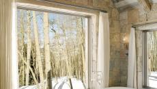 Salle de bain design feria - Salle de bain avec mur en pierre ...