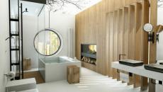 spacieuse salle de bain de luxe