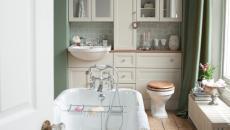 ameublement salle de bains design retro à l'ancienne baignoire