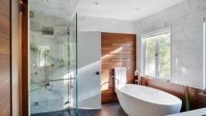 lumineuse salle de bains deco zen
