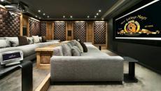 home cinéma privée aménagée