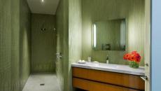 salle de douche en vert design