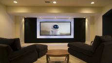 intérieur maison moderne salle de ciné