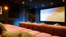 salle de cinéma privée chalet luxe