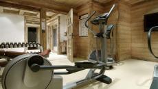 salle de fitness chalet de luxe prestige alpes