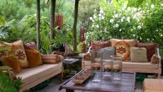 salon de jardin convivial et chaleureux