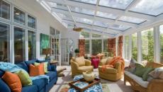 véranda verrière meubles déco ameublement salon de jardin design