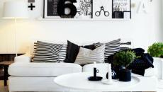 design tendance noir et blanc séjour
