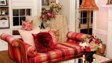 séjour classique luxe rouge