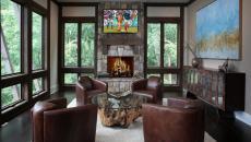 Table basse en bois séjour moderne