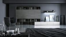 séjour design en noir et blanc design