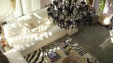 salon noir et blanc design classe