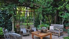 salon de jardin design rustique
