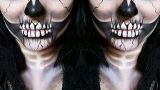 maquillage femme terrifiant pour Halloween