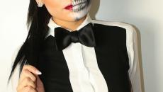 femme maquillée fête halloween