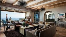 séjour panorama splendide meubles rustiques poutres apparentes