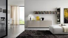 salon épuré canapé design italien