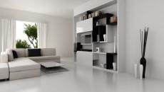 séjour ultra chic en blanc meubles design