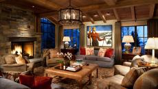 décoration séjour rustique chalet montagne