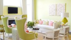 maison moderne décoration intérieur en couleurs