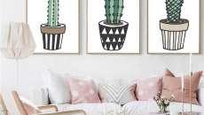 idées déco cactus séjour design maison moderne