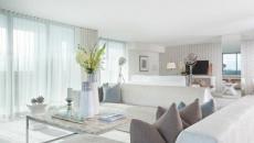 séjour exotique appartement lumière naturelle