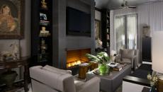 salon en gris design élégant éclectique