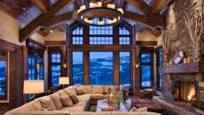 chalet en bois luxe prestige montagne vue panorama