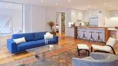 séjour moderne éclectique luxe brique murs