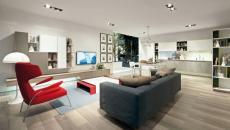 salon spacieux design italien