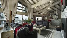 villa chalet en bois maison de luxe dans les Alpes grand standing