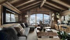 vue magnifique chalet de luxe ski vacances méribel