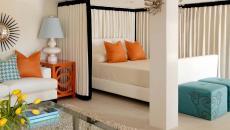 délimiter le lit du séjour idées solution pratique rideau