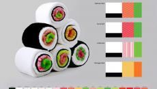 serviettes design sushi designer accessoire créatif déco
