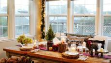 Décoration de Noël simple rustique cuisine