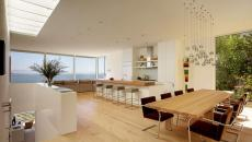 cuisine moderne salle à manger spacieuse luxe