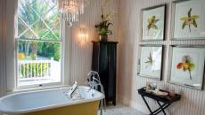 baignoire en couleur salle de bain moderne