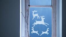 Noël magique décorer les fenêtres de la maison
