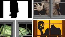 idées de déco fenêtres Halloween