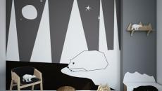 décoration chambre d'enfant en gris et blanc