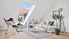 appartement sous le toit design minimaliste scandinave